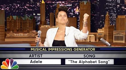 Alicia Keys śpiewająca jak Adele