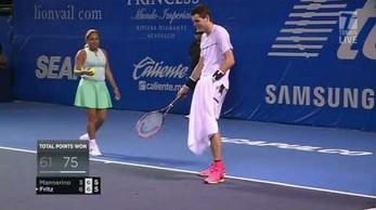 Ćma przerwała mecz. Tenisista nie dał jej rady