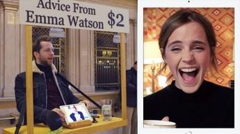 Emma Watson za dwa dolary udzielała porad nieznajomym