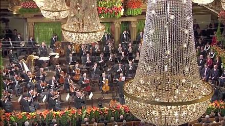 Orkiestra Filharmonii Wiedeńskiej gra Marsz Radetzky'ego