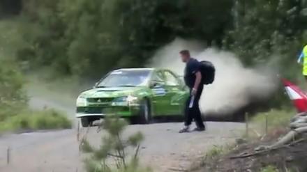 Sceny z wyścigów WRC - czysty dźwięk