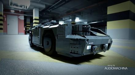 Pojazd z Obcego zrobiony z klocków LEGO