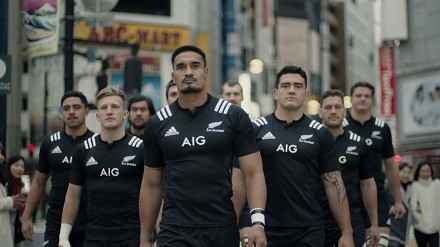 All Blacks na ulicach Tokio