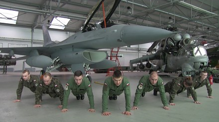 Polish Air Force Academy - 22 Pushup Challange