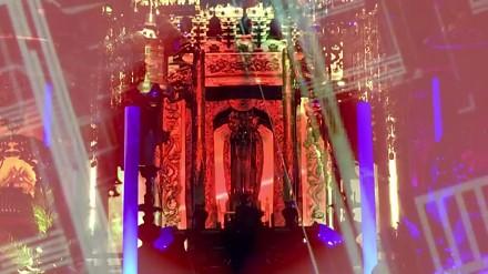 Świat Buddy ukazany grą muzyki i świateł