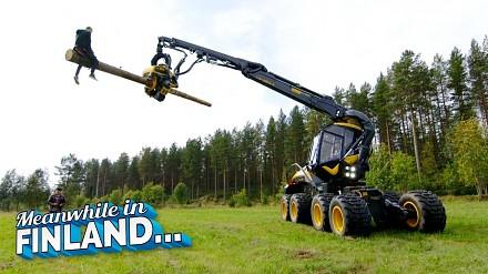Rodeo po fińsku - z wykorzystaniem kombajnu zrębowego