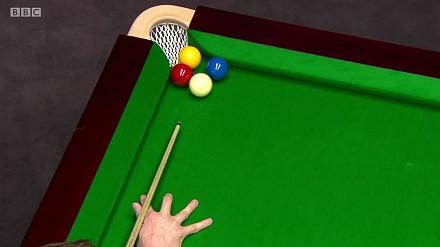 Nietypowe zakończenie frejma w meczu snookera
