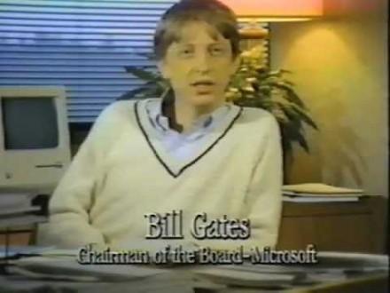 Tak w 1984 roku Bill Gates promował Macintosha