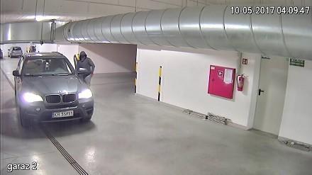 Kradzież BMW X5 z zamkniętego parkingu na zamkniętym osiedlu w Krakowie