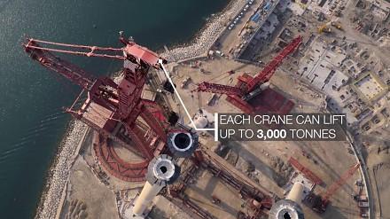 Budowa największego na świecie diabelskiego koła w Dubaju