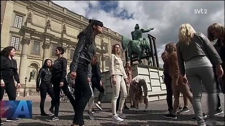 Szwedzkie kobiety galopują w proteście przeciwko patriarchatowi