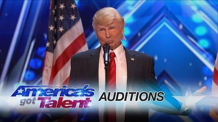 Śpiewający Donald Trump w amerykańskim Mam Talent