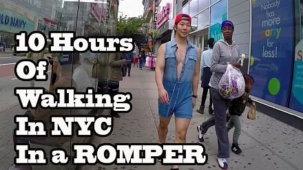 Jak ludzie w Nowym Jorku zareagują na gościa w rampersach?