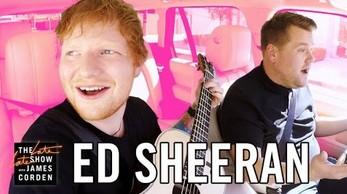 Ed Sheeran w samochodowym karaoke
