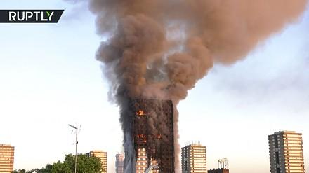 Ogromny pożar wieżowca w Londynie