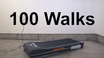 Animator przedstawia 100 różnych typów chodu na bieżni