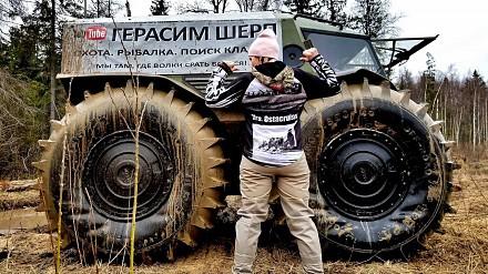 Rosyjski pojazd terenowy, który wszędzie dojedzie