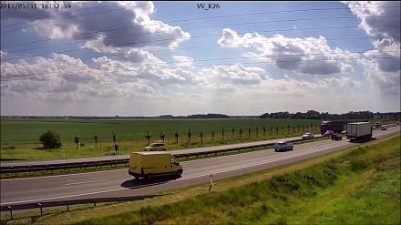 """""""Zatrzymanie"""" rowerzysty przez służby utrzymania autostrady"""