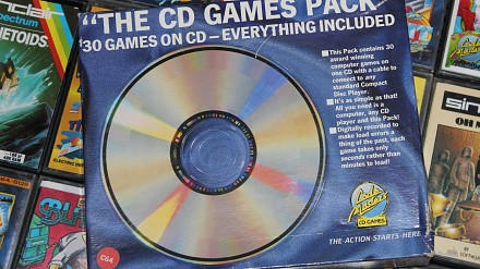 """The CD Games Pack"" -- gry CD na... Commodore 64!"