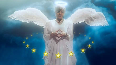 Klemen Slakonja jako Angela Merkel - Ruf mich Angela