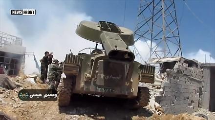UR-77 Meteoryt toruje drogę w syryjskim mieście