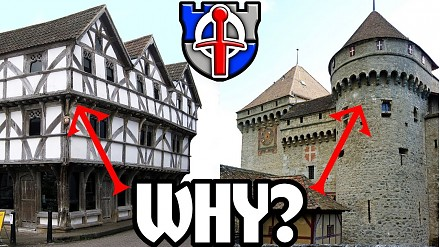 Czemu średniowieczne budynki miały poszerzone piętra?