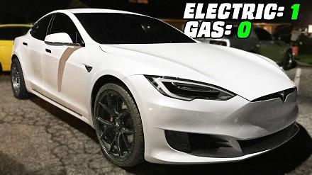 Wybebeszona Tesla P100D trolluje na wyścigach