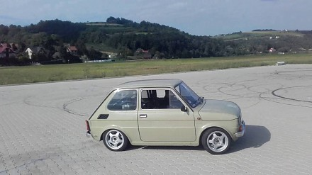 Mały, ale wariat - Fiat 126p z silnikiem od ścigacza