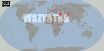 Mapa zamachów terrorystycznych 2011-2017