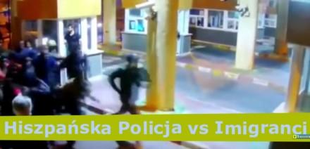 Hiszpańska policja vs imigranci