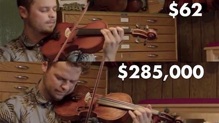 Czy jesteś w stanie usłyszeć różnicę między taniutkimi a bardzo drogimi skrzypcami?
