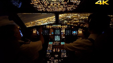 Nocne lądowanie samolotem Airbus A320 w Tuluzie
