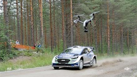 Rajd Finladii sfilmowany za pomocą dronów