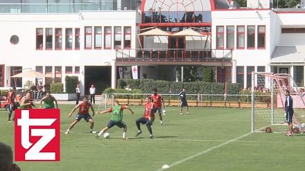 Takie bramki strzela Lewandowski na treningu