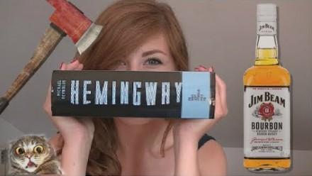 Miła pani ładnie opowiada o Hemingwayu, złodzieju listów z dzidą