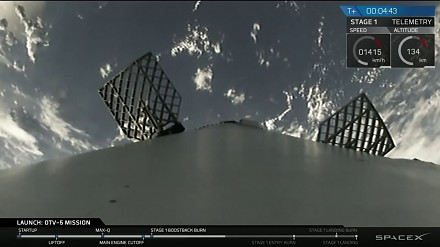 Falcon 9 umieszcza wahadłowiec na orbicie