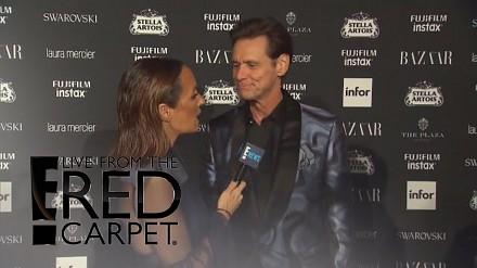 Jim Carrey poszedł na Fashion Week i zaszokował wszystkich swoim wywiadem