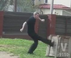 Rosyjska szkoła walki - podstawowy low kick