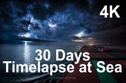 30-dniowa podróż statkiem towarowym po oceanie