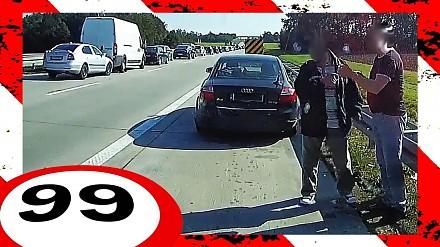 Wybuch opony w ciężarówce i inne niebezpieczne zdarzenia z polskich dróg