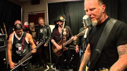 Lemmy Kilmister wpadł pograć z chłopakami z Metalliki