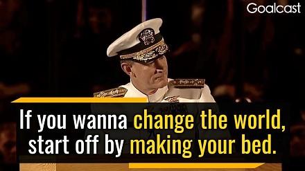 Jak zmienić świat? Przemowa amerykańskiego admirała