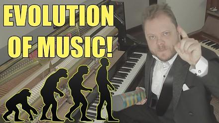 Ewolucja muzyki od roku 1680 do dzisiaj. Wszystko zagrane na pianinie