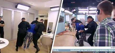 Wardęga aresztowany na żywo w telewizyjnym studio
