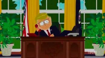 Prezes w South Parku rozmawia z Trumpem