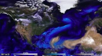 Wizualizacja atmosfery od NASA na przykładzie kilku huraganów
