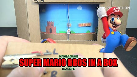 Super Mario Bros, super low tech