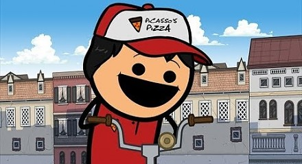 Dostawca pizzy - Cyanide & Happiness Shorts