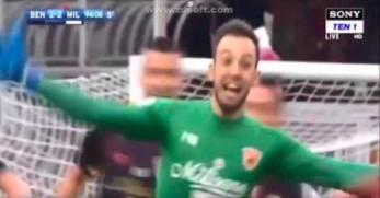Bramkarz Benevento daje swojemu klubowi pierwszy punkt w tym sezonie