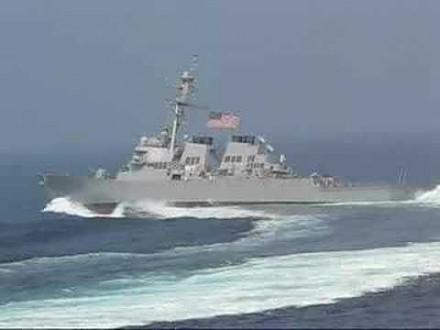 Błyskawiczny zwrot niszczyciela US Navy